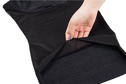 MISS MOLY ShapeTop|Leicht-Figurformende Damen Unterhemd Vollere Brüste Schlankere Taile Im Kleidern Schwarz/Beige Modell1 Schwarz