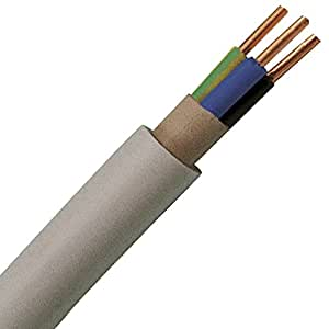 gray sheathed cable nym j 3x2 5 electric cable 50 m electronics. Black Bedroom Furniture Sets. Home Design Ideas