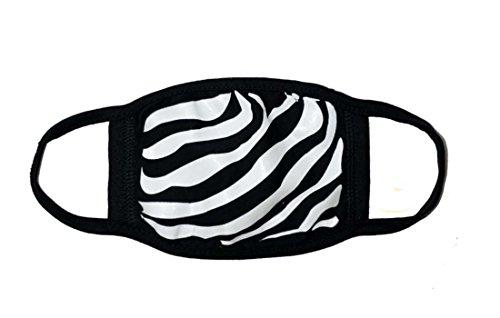 Sassy Pippi Unisex Süße Mundschutz Maske Emojimaske Kälteschutz Gesichtsmaske (Zebra) - Maske Atemschutzmaske Kostüm