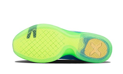 Nike Kobe X, Chaussures de Sport-Basketball Homme Multicolore - Azul / Morado / Verde (Sr / Mtllc Slvr-Dp Ryl Bl-Grn Sh)