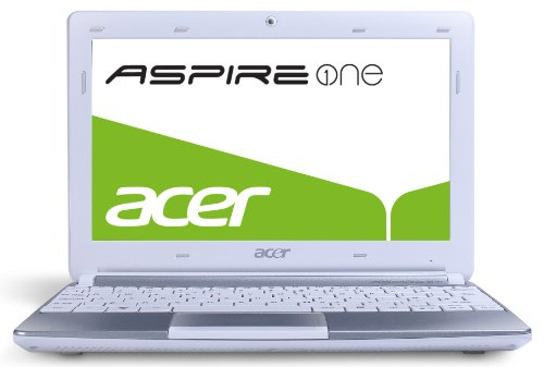 Acer Aspire One D257 25,7 cm (10,1 Zoll) Netbook (Intel Atom N570, 1,6GHz, 1GB RAM, 320GB HDD, Intel  3150, Win 7 Starter) weiß -