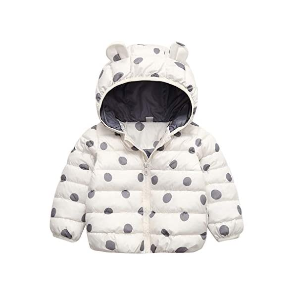 YWLINK Chaqueta con Capucha 2-7 AñOs De Edad, Invierno Ropa De AlgodóN CáLido NiñA Bebé Abrigo De Oso con Estampado De… 4
