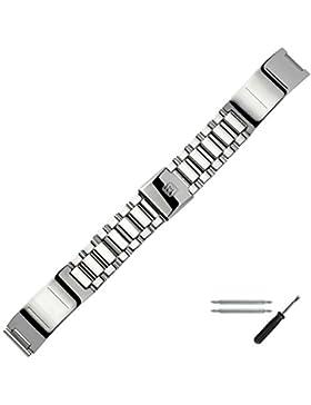 MARBURGER Uhrenarmband 16mm Edelstahl Silber - Edelstahl - Inkl. Zubehör - Ersatzarmband, Schließe Silber - 81502090020
