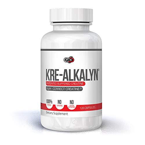 Pure Nutrition KRE ALKALYN Kapseln 1500mg 60 Portionen 120 Kaps|Creatin Monohydrat Beste Gepufferte pH-Korrektur Keine Wasserrückhaltung Keine Beladung|Bessere Absorption|Erhöht die Muskelkraft