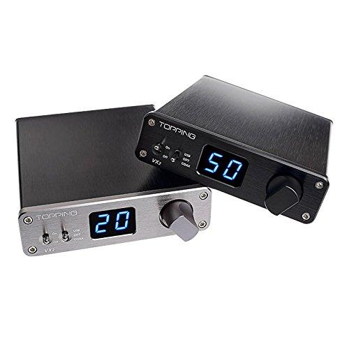 TOPPING VX2 Amplificateur Numérique Vertex DAC Complète Signal Numérique (Argent)