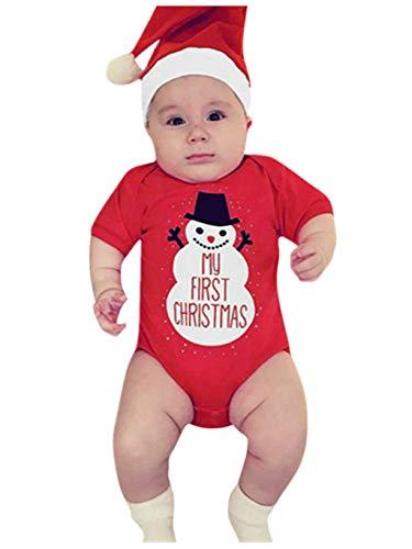 SUMTTER Weihnachten Baby Strampler Christmas Baby Kleidung Set für Neugeborenes Jungen Mädchen Xmas Cosplay Kostüm Overall (Mario Schimmel)