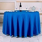 WJYdp Blaue Runde Tischdecke Aus Polyester Hause Hotel Dekoration Stoff Hotelcafé-Tischdecke,150CM(59in)