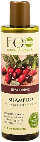 Organic Shampoo Restoring For Damaged & Colored Hair with Acai Berry - Silicons & Sulf