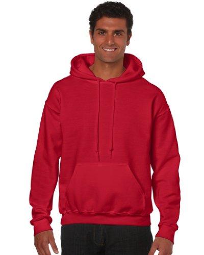 Gildan - Unisex Kapuzenpullover 'Heavy Blend' , Red, Gr. L (Bekleidung Red Kapuzenpullover)