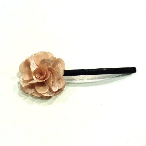 rougecaramel - Accessoires cheveux - Mini pince fleur pour mariage ou cérémonies - beige