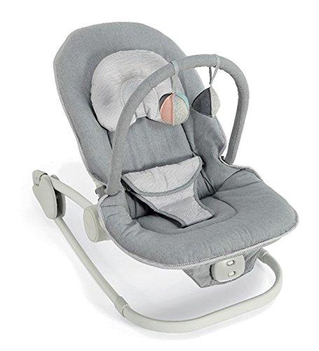 Mamas & Papas Wave Rocking Cradle, Grey Melange Best Price and Cheapest