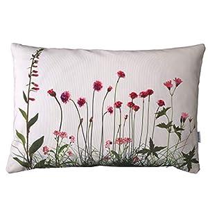 Blumenwiesen Kissen, 40×60 cm Hülle, Baumwolle, Natur Blumen Motiv, Deko, Sofa, Garten