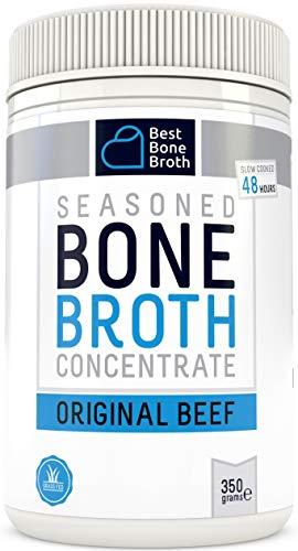 Brodo concentrato di osso bovino - Ricco in Collagene per migliorare la salute dell\'intestino, il turgore della pelle e la salute dei capelli - Adatto per diete Keto e Paleo - senza ormoni