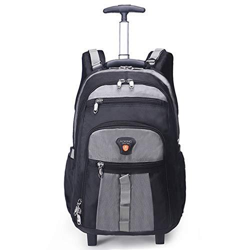 AUNLPB Wheeled Rolling Laptop Trolley Rucksack, Flug Approved Carry-On Gepäck Rucksack, Travel Backpack für Women/Men Waterproof School Computer Bag,Gray - Carry On Rucksack Gepäck
