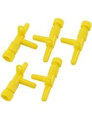 vàlvula aire tubo flujo control amarillo oxígeno pecera acuario bomba 5 pzs