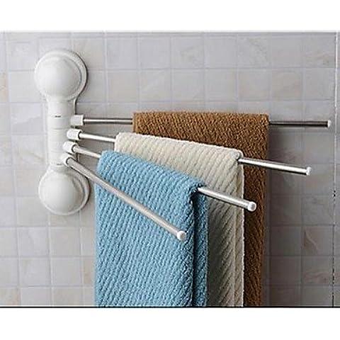 RangYR*minimalista in acciaio inossidabile Portasalviette con barre di asciugamani