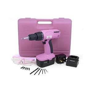 ab pink akkuschrauber tolles rosa werkzeug f r kinder werkzeugkoffer baumarkt. Black Bedroom Furniture Sets. Home Design Ideas