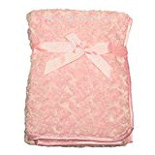 Bébé fille souple Deluxe Couverture Rose 100 x 75 cm, Doublé, cadeau idéal