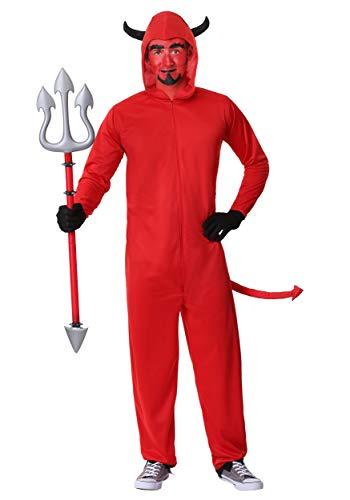 (Men's Plus Size Devil Jumpsuit Fancy Dress Costume 2X)