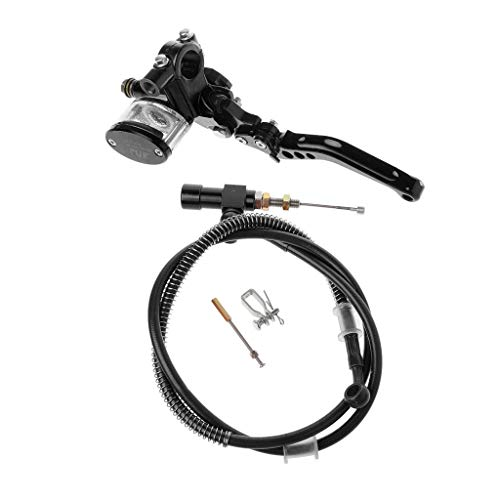 """Lifet Universal-Motorrad 7/8\"""" Kupplung CNC-Hauptzylinder für hydraulische Kupplung Flüssigkeitsvorratsbehälter Hebelsatz (Schwarz)"""