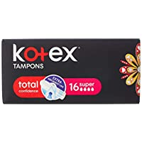 Kotex Mini Super Silky Cover Tampons - 16 Pieces