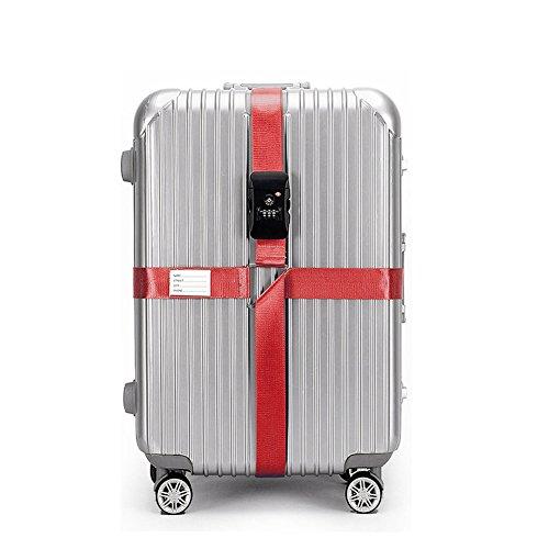 BlueCosto Rojo TSA Correas Equipaje Maleta Candado