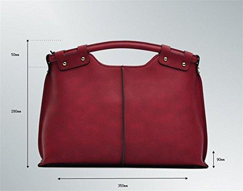 Womens Vintage sac bandoulière épaule sacs sacs à Main poignée supérieure Brown