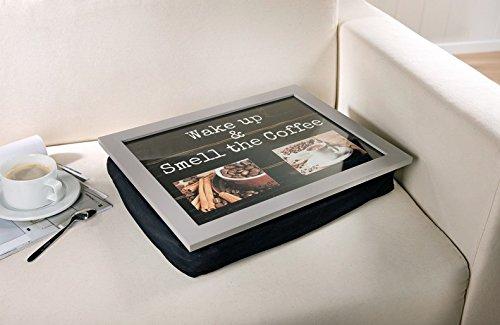 Knie-Tablett mit Kissen - 2 Rahmen für eigene Fotos -