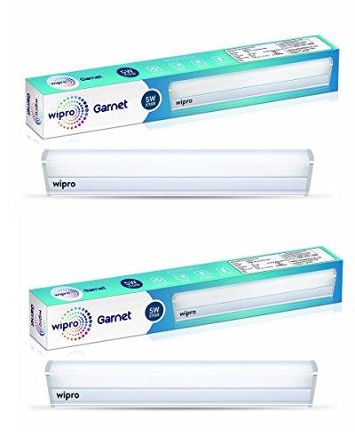 Wipro Garnet 5-Watt LED Batten (Pack of 2, Warm White and Golden Yellow)