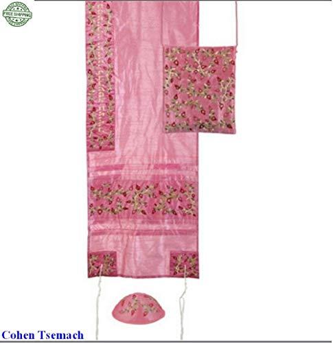 Yair Emanuel Damen Tallit Set-Pomegranates- Pink (Gebet Für Frauen Jüdischen Schal)