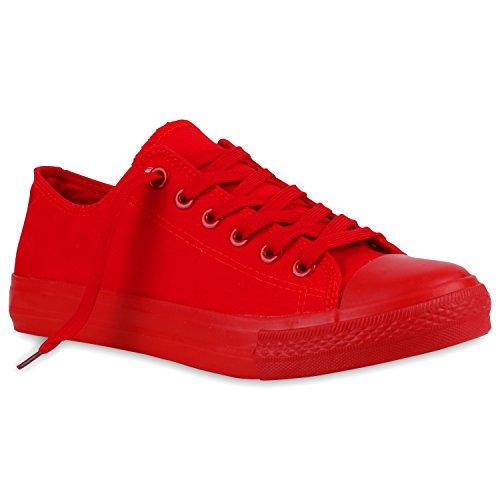 Herren Sneakers | Freizeitschuhe Sportschuhe | Schnürer Stoffschuhe |Fitness Streetstyle | viele Farben Rot Rot