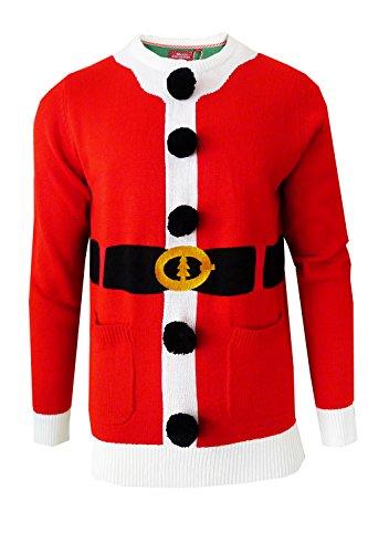 Adultes Brave Soul Designer Unisexe Assortis Pull De Noël Santa - Red