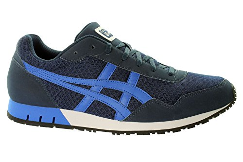 ASICS Curreo - Scarpe da Ginnastica Basse Unisex – Adulto, Bianco (white 0184), 44 EU Dark Blue/Light Blue