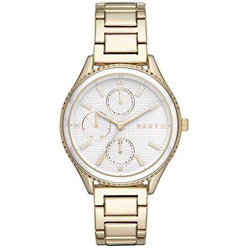 DKNY Damen Analog Quarz Uhr mit Edelstahl Armband NY2660