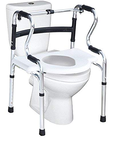 MEDE-MOVE Shree Surgicals 5 in 1 Product Comprising Walker, Commode Chair, Toilet Seat Raiser, Bath Bench, Toilet Safety Frame