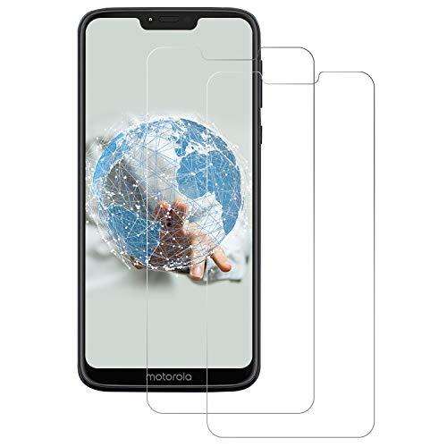 DOSNTO Panzerglas Schutzfolie für Motorola Moto G7 Power, Bildschirmschutzfolie [2 Stück] [wasserdicht] [Blasenfrei] [Anti-Öl] [Ultrabeständige Härte 9H] Premium Kristallklar Panzerglasfolie