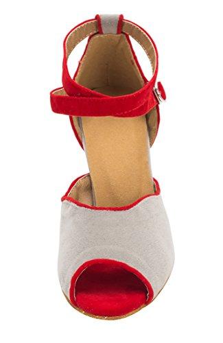 TDA ,  Damen Peep Toes 8.5cm Heel Grey