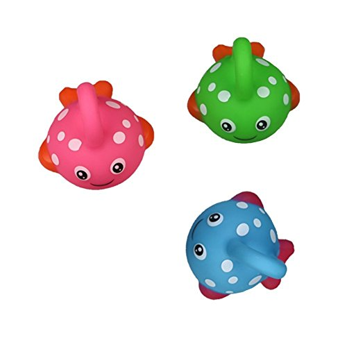 Bath Toy Fishing Game with Cute Spotted Fish and Fishing Rod Best Gift for Children Boys Girls Bathtub Fun Time