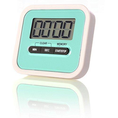 Neuftech® Digital Countdown Kurzzeitmesser Kurzzeitwecker Küchentimer Kitchen Timer mit Magnetständer - blau