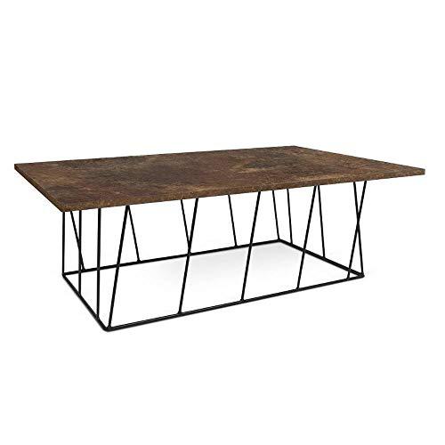 TemaHome Table Basse Helix 120 Structure laquée Noire