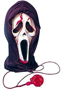 Gifts 4 All Occasions Limited SHATCHI - Máscara de sangrado para Halloween, cara sangrienta, disfraz de fantasma de terror y fantasma, talla única, color rojo