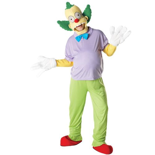 Karneval Herren Kostüm Krusty the Clown zum Simpson Comic Größe (Kostüme Simpsons Clown Der Krusty)