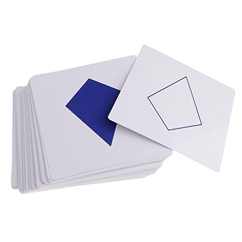 Sharplace Set de 105PCS Tarjeta Geométrico Montessori Juguete