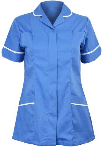 Damen Healthcare Lüftungsgitter rund-Krankenschwestern Tunika Mädchen Kragen Anzug Wishes Can Come True Kleid Buch wird mit Funktion mit Dochte Beschneiden nlto1-Größe der Tasche 8to 26 Mehrfarbig