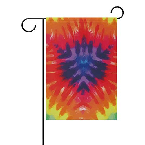 Dye Tie Gardenflagge 30,5 x 45,7 cm doppelseitig Yard Dekoration Polyester Outdoor Flagge Home Party, Polyester, Multi, 12x18(in) ()