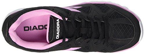 Diadora Hawk 5, Gymnastique mixte adulte Multicolore - Multicolore (C2971 Nero/Rosa)