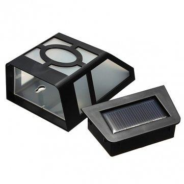 LED Solarleuchte Edelstahl Treppenlicht Schritt Licht Solarstrahler Außenleuchte
