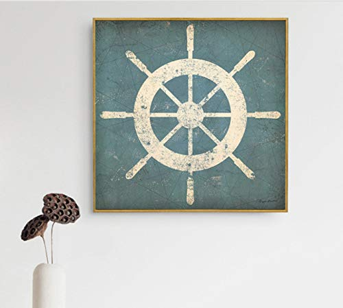 Abstrakte Malerei Modernen Minimalistischen Wandkunst Bilder Wohnzimmer Dekoration Alten Bären Kuh Kompass Nehmen Sie EIN Swin Wanderung Leinwand 50X50 cm Ohne Rahmen