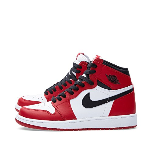 new product 13c8b e67de ... Nike Jungen Air Jordan 1 Retro High OG BG Basketballschuhe Weiß    Schwarz   Rot ...