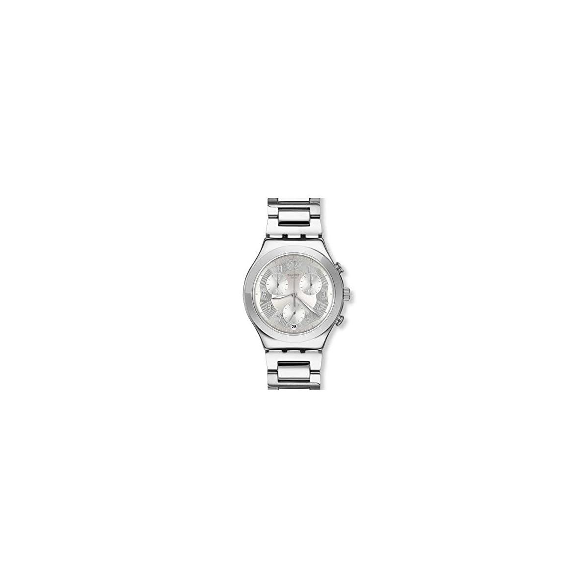 419n8rHKHTL. SS1200  - Swatch Reloj Cronógrafo para Mujer de Cuarzo con Correa en Acero Inoxidable YCS604G